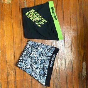 Nike pro short spandex bundle